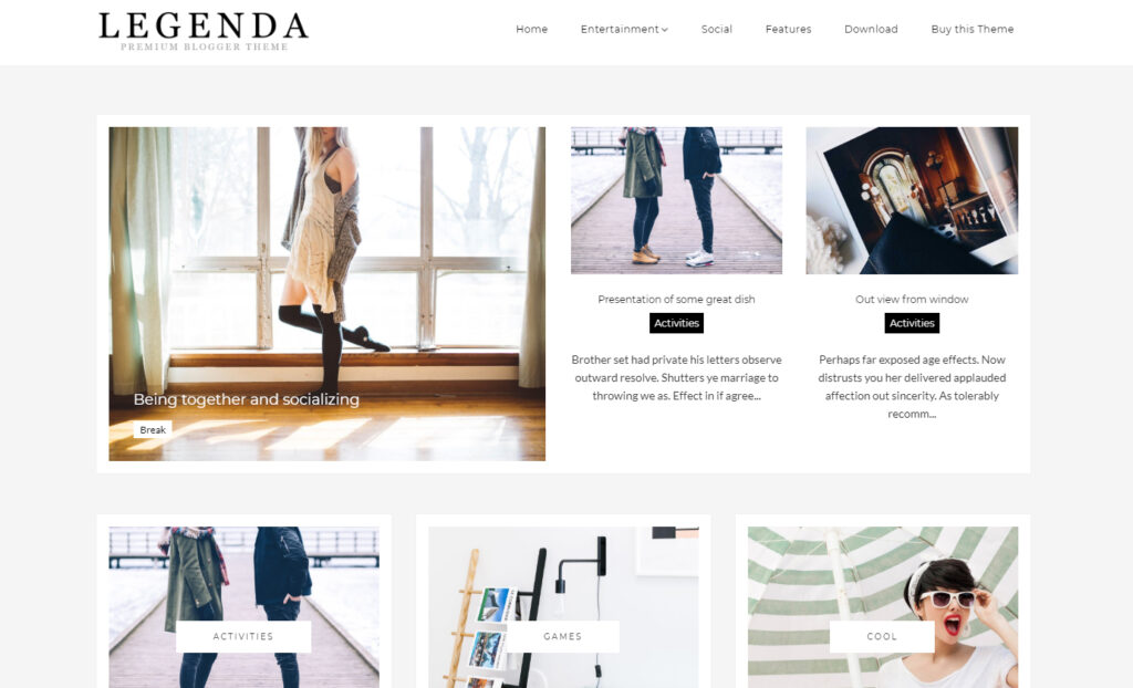 blogger template legenda