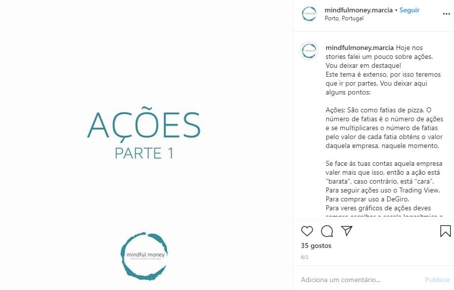 contas de finanças que tens de seguir no instagram