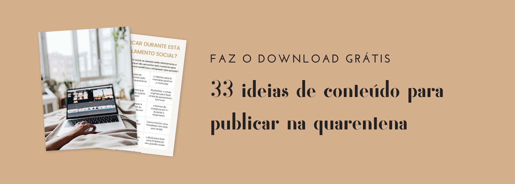 ideias de conteúdo