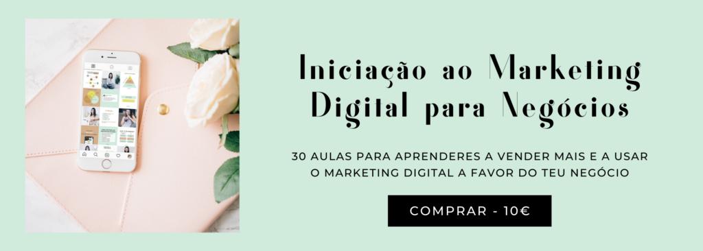 Curso iniciação ao marketing digital para negócios